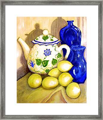 Tea With Lemon Framed Print by Robin Mead