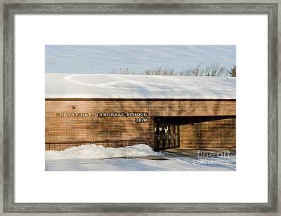Teach Peace Framed Print
