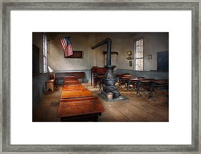 Teacher - First Day Of School Framed Print by Mike Savad