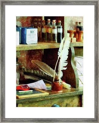 Teacher - School Supplies In General Store Framed Print