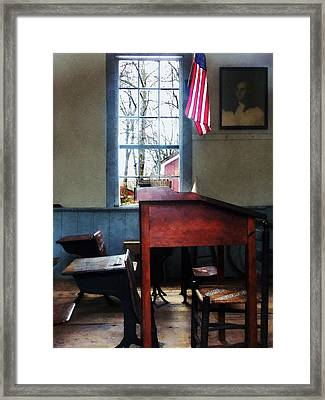 Teacher - Schoolmaster's Desk Framed Print by Susan Savad