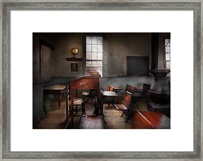Teacher - The Education System Framed Print by Mike Savad