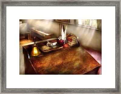 Teacher - The School Room Framed Print by Mike Savad