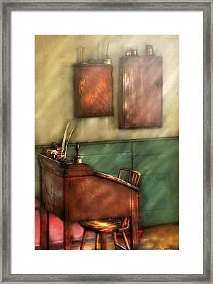 Teacher - The Teachers Desk Framed Print by Mike Savad