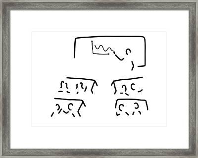 Teacher Trains Training Framed Print by Lineamentum