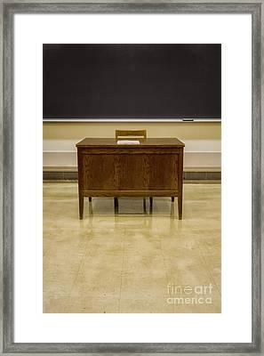 Teacher's Desk Framed Print