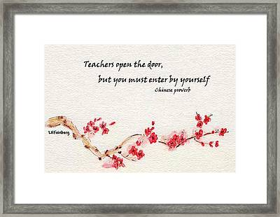 Teachers Open The Door Framed Print