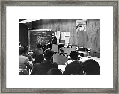 Teaching Computer Programming Framed Print by Underwood Archives
