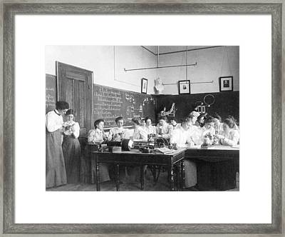 Teaching Electromagnetism, Circa 1899 Framed Print