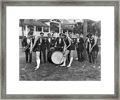 Teaching Golf With Jazz Framed Print by Underwood Archives