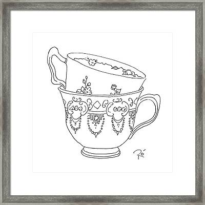 Teacup Love Framed Print