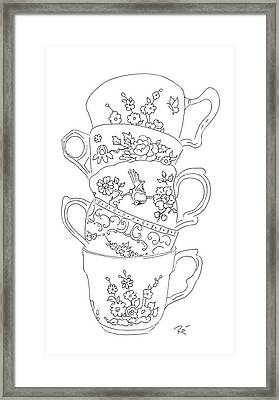 Teacup Tremble Framed Print