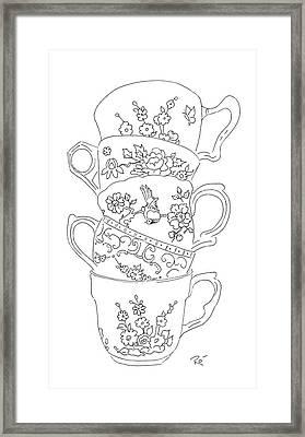Teacup Tremble Framed Print by Roisin O Farrell