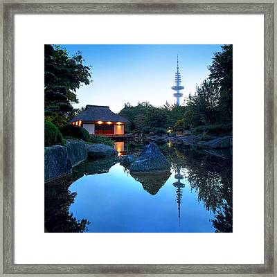 Teahouse Hamburg Framed Print by Marc Huebner