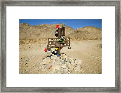 Teakettle Junction In Death Valley  Framed Print