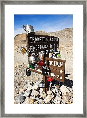 Teakettle Junction Framed Print by James Marvin Phelps