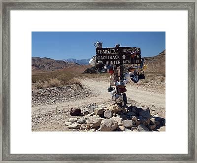 Teakettle Junction Framed Print