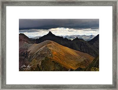 Teakettle Mountain Framed Print by Aaron Spong