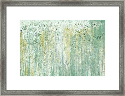 Teal Ambient Surround Framed Print
