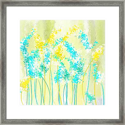 Teal And Graces Framed Print by Lourry Legarde