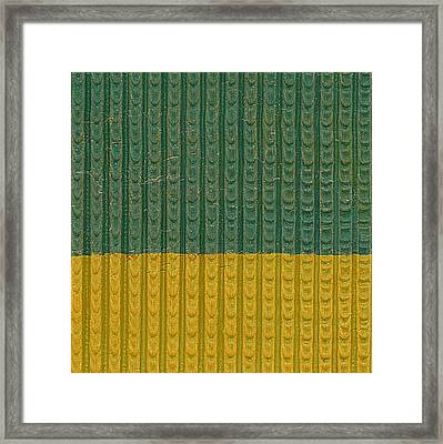 Teal And Mustard Framed Print by Michelle Calkins