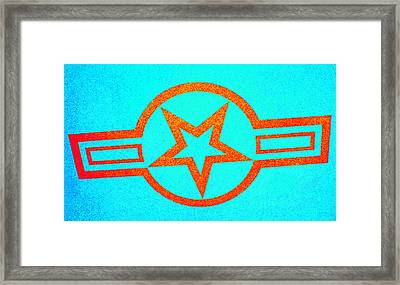 Teal And Rust Fighter Star Framed Print by Holly Blunkall