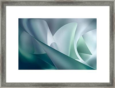 Teal Beam Framed Print