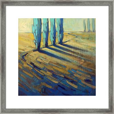 Teal Framed Print by Konnie Kim