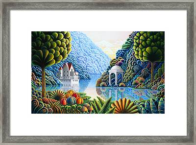 Teal Lake Framed Print by Andy Russell