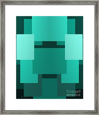 Teal On Teal 11 Framed Print by Andee Design
