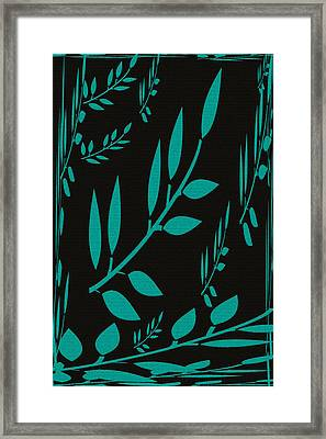 Teal Treasure Framed Print