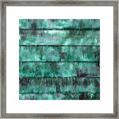 Framed Print featuring the photograph Teal Water Panels by Jocelyn Friis