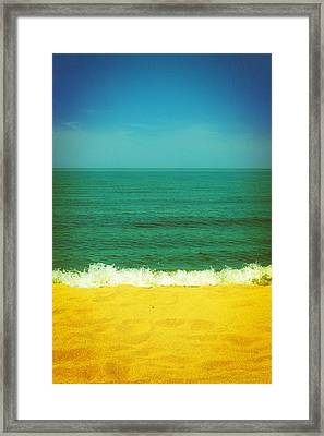 Teal Waters Framed Print