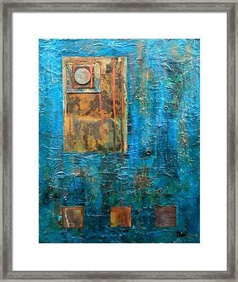 Teal Windows Framed Print by Debi Starr