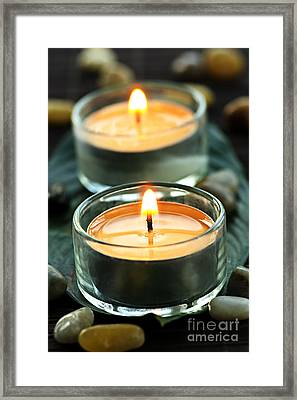 Tealights Framed Print by Elena Elisseeva