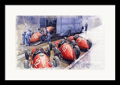 Ferrari 500f2 Framed Prints