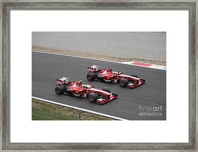 Team Ferrari Framed Print