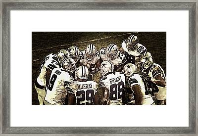 Team Huddle Framed Print