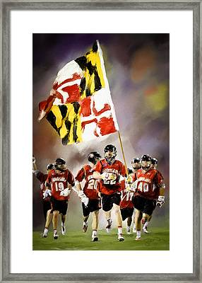 Team Maryland  Framed Print
