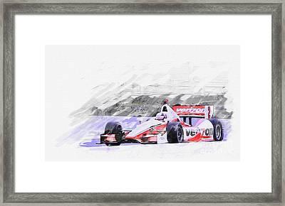 Team Penske Dallara Chevrolet Indy Car  Framed Print by Roger Lighterness