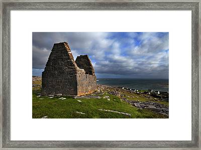 Teampall Bheanain Dates From The 11th Framed Print