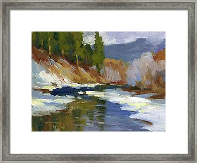 Teanaway River Framed Print by Diane McClary