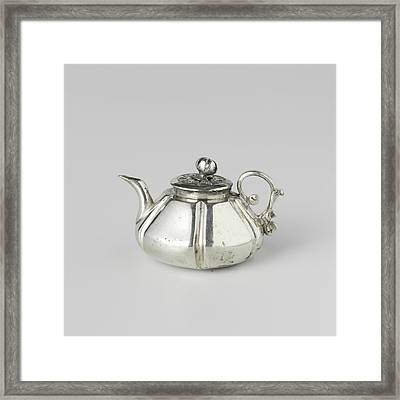 Teapot, Attributed To Frederik Van Strant Framed Print