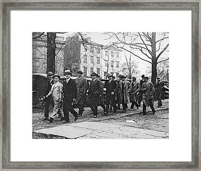 Teapot Dome Trial Jury Framed Print