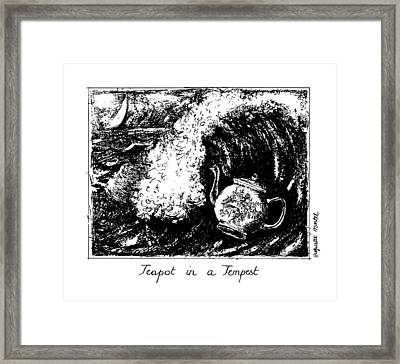 Teapot In A Tempest Framed Print