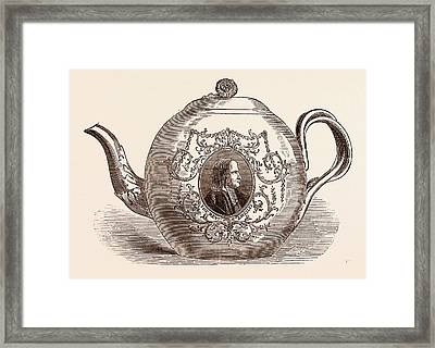 Teapot Presented To The Rev. John Wesley Born June 17 Framed Print