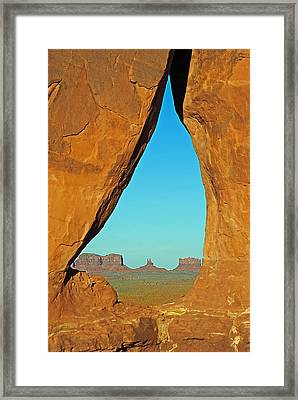 Tear Drop Arch Monument Valley Framed Print