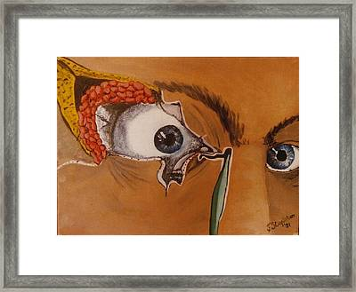 Tear Duct Framed Print