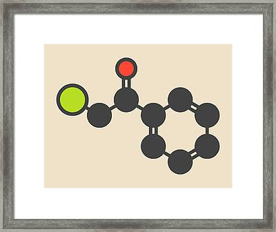 Tear Gas Molecule Framed Print by Molekuul