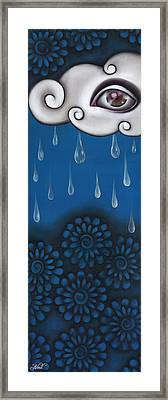 Tear Of A Cloud Framed Print by  Abril Andrade Griffith